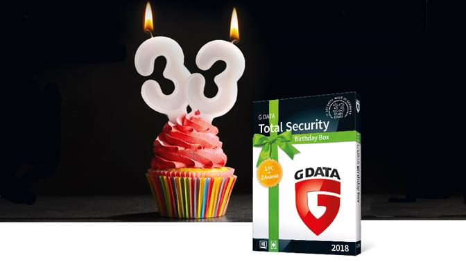 G Data Total Security 33 aniv