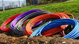 fibra, conductos, cable