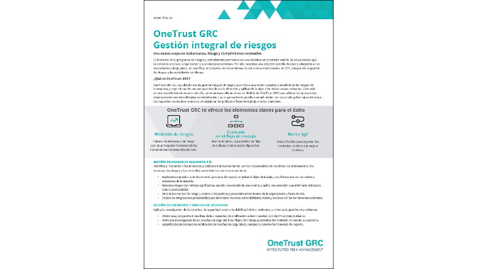 OneTrust GRC WP